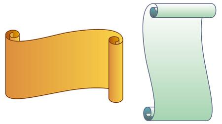 scroll: Paper scrolls Illustration