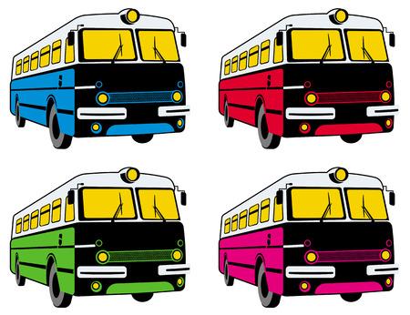 retro: Retro buses