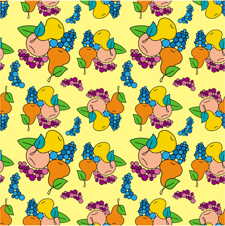 pleasing: Seamless pattern with fruits Illustration