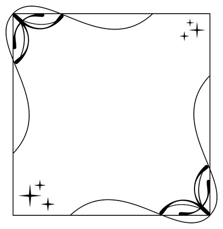 Vector balck and white frame