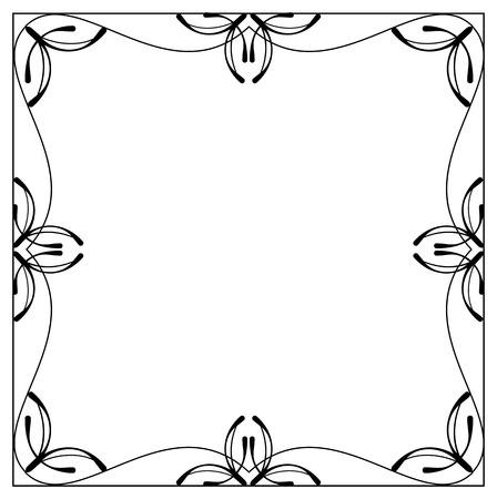 balck: Vector balck and white frame