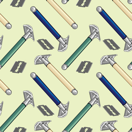 tackle: Seamless pattern with shaving tackle