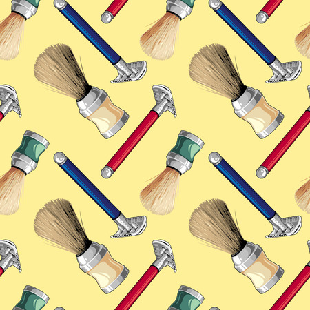 Seamless pattern with shaving tackle