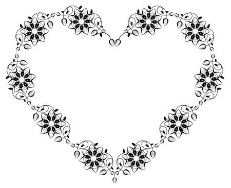 shaped: Heart shaped silhouette frame
