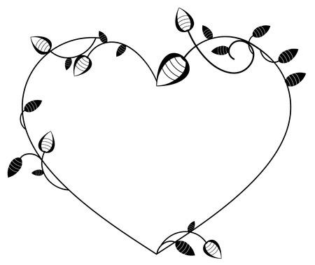 heart shaped: Heart shaped silhouette frame