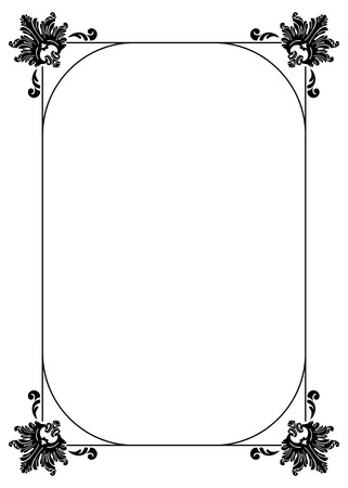 Silhouette frame with decorative floral elements