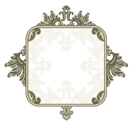 jewel box: Vintage silver square frame