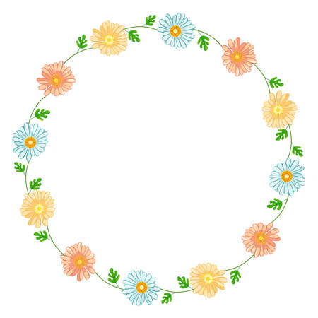 camomiles: Round frame with camomiles
