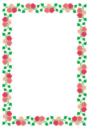 Frame met rozen Stock Illustratie