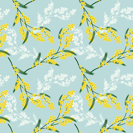 mimosa: Seamless pattern with mimosa