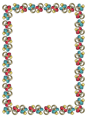 soothers: Frame with soothers