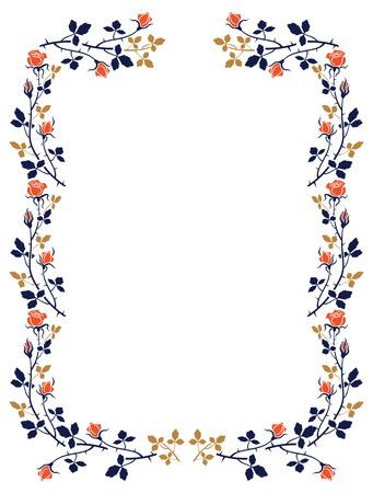 ornaments floral: Elegant frame with roses