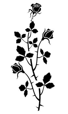 flower thorns: Rose silhouette