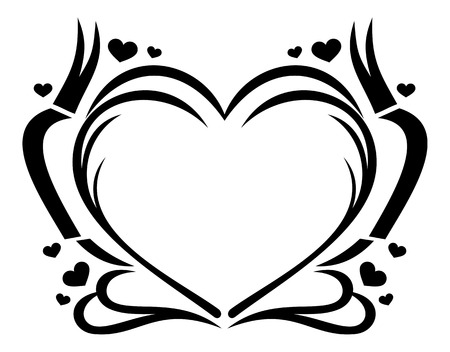 background picture: Heart shaped frame Illustration