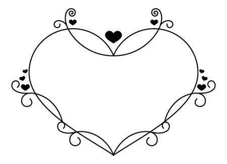 heart shaped: Heart shaped frame Illustration