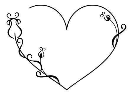 Coeur silhouette dentelle Vecteurs