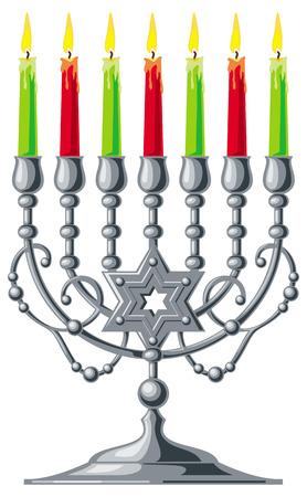 magen: Silver menorah Illustration