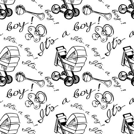 contour: contour seamless pattern for newborn boy