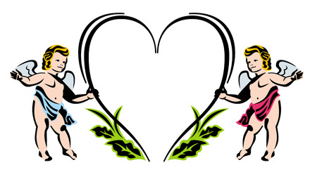 cupido: Colorful Valentine background with Cupid