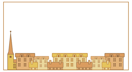 houses: frame with european traditional houses Illustration
