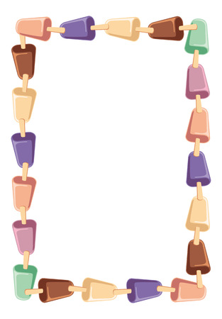 creams: frame with ice creams Illustration