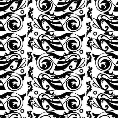 decorative fish: Seamless pattern with decorative fish