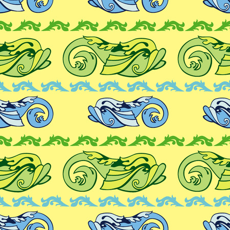 decorative fish: Seamless pattern with decorative fish