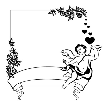 contour: Contour Valentine frame with Cupid