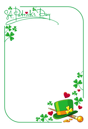 Vector frame with  hat of the leprechaun Vettoriali