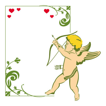 cupido: Valentine frame with Cupid