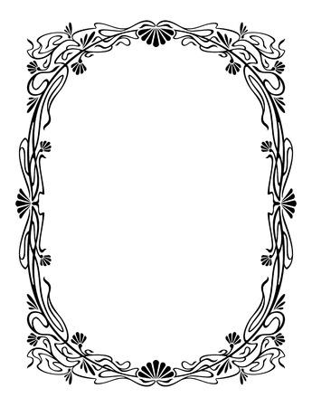 the frame: Elegant silhouette frame