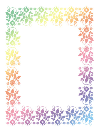 floral ornaments: Abstract ornamental frame Stock Photo