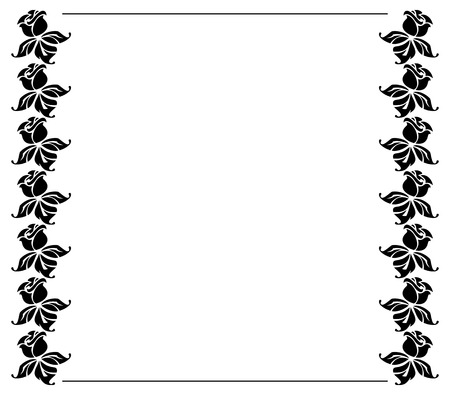 black roses: Silhouette frame with black roses