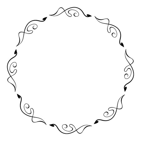 round: Abstract round silhouette frame Illustration