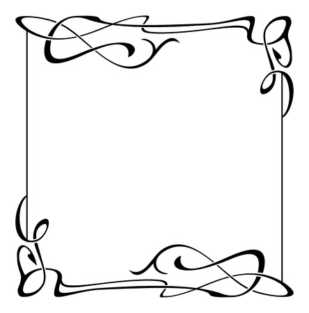 Elegant black and white frame