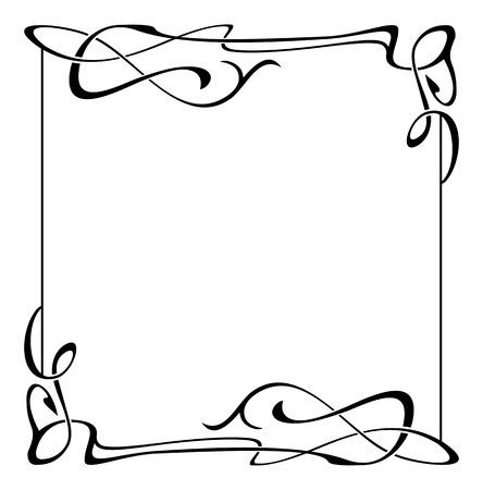 text free space: Elegant black and white frame