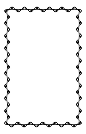 celtic art: Black and white frame with celtic knots