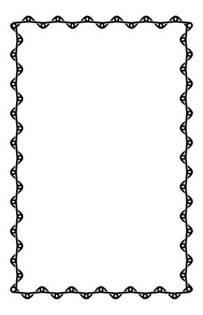 black and white frame: Black and white frame with celtic knots