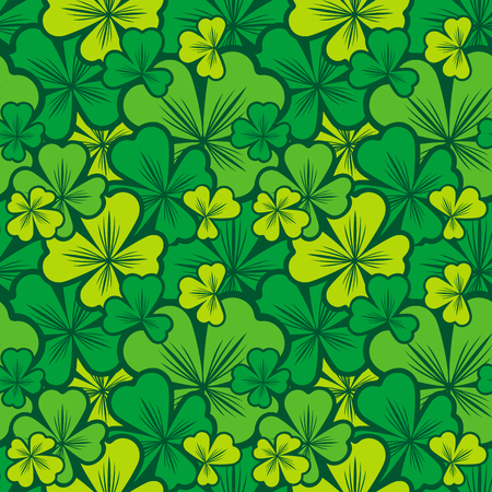 allover: Seamless pattern with shamrock