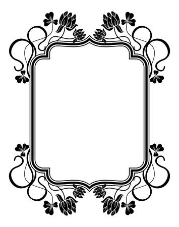 contours: Outline frame with floral contours