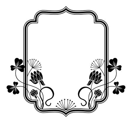 cadre de contour avec des contours floraux Vecteurs