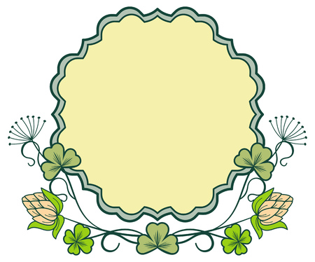 irish easter: Beautiful floral frame. Vector clip art. Illustration