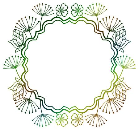 irish easter: Beautiful floral frame.