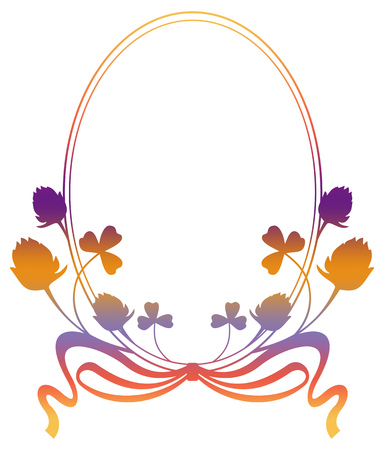 fill: Floral frame with gradient fill. Raster clip art.
