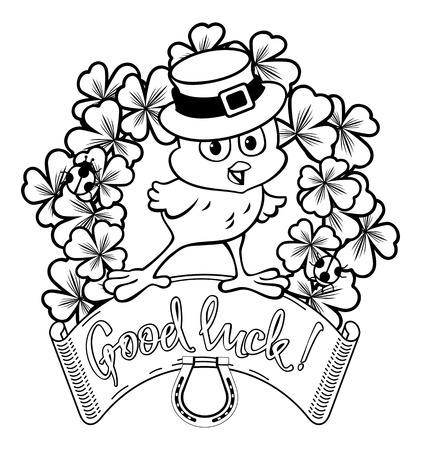 Funny Chicken In The Leprechaun Hat Clip Art Royalty Free Cliparts