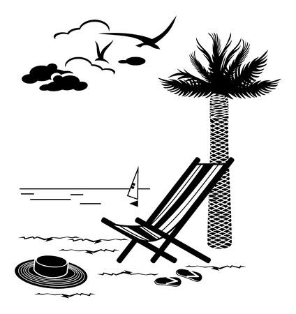 deckchair: Marine landscape with deckchair