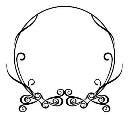 Cornice rotonda astratta