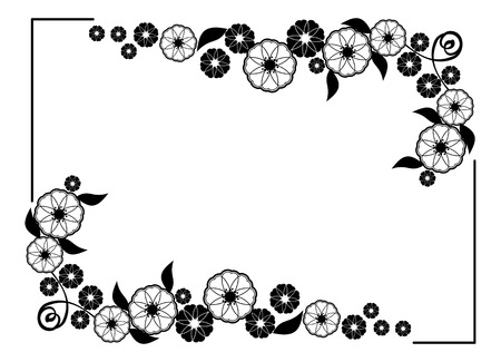 Flower frame decorative black and white frame with floral elements flower frame decorative black and white frame with floral elements for decoration of the wedding mightylinksfo