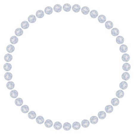 bead: Round frame with bead necklace. Vector clip art. Illustration