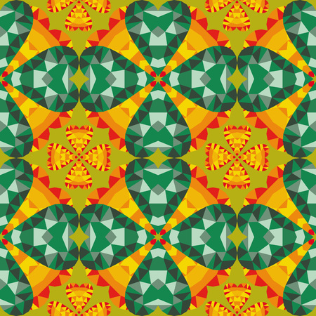 dimond: Abstract geometric pattern with jewelry flowers